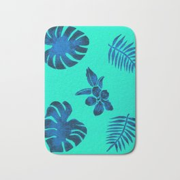 Blue Tropicals Bath Mat