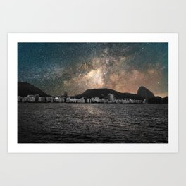Shiny Sky Over Copacabana Art Print