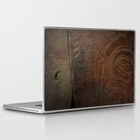 leather Laptop & iPad Skins featuring Aged Leather by Dorothy Pinder