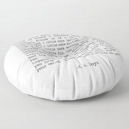 Take Chances Floor Pillow