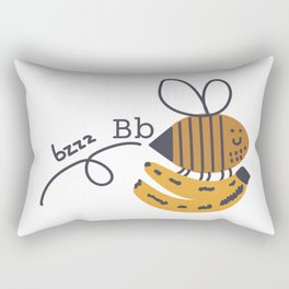 b is for the bee and her bananas Rectangular Pillow