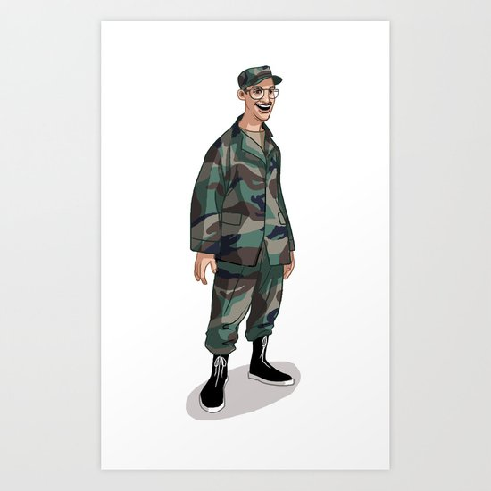 I'm going to Army Art Print
