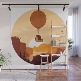 Flying House Wall Mural