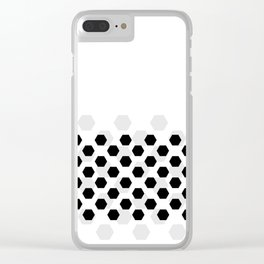 Backgroun of soocer,  football. Traditional sport texture of ball. Clear iPhone Case