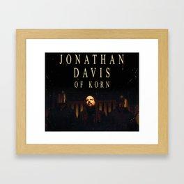 JONATHAN DAVIS WORLD TOUR DATES 2019 FIZI Framed Art Print