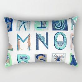 Alphabet Letter Decor Design Art Pattern Rectangular Pillow