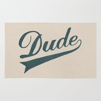 dude Area & Throw Rugs featuring Dude by Florent Bodart / Speakerine
