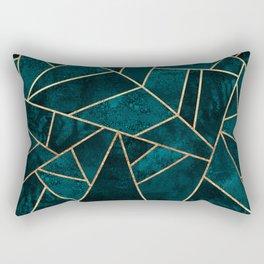 Deep Teal Stone Rectangular Pillow