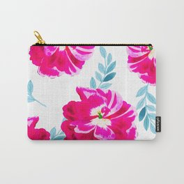 Fluorescent Florals #society6 #decor #buyart Carry-All Pouch