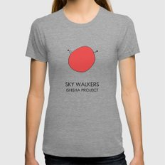 SKY WALKERS by ISHISHA PROJECT Tri-Grey MEDIUM Womens Fitted Tee