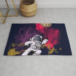 minimalist Astronaut Rug