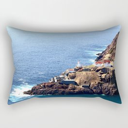 Newfoundland Canadian National Historical Site Fort Amherst and WWII bunkers Rectangular Pillow