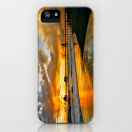 Sunset ~ Huntington Beach Pier iPhone Case