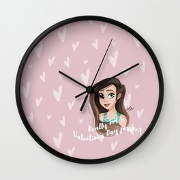 Really not a Valentine's Day person! Wall Clock