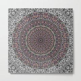 Pastel colors mandala Sophisticated ornament Metal Print