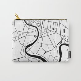 Bangkok Thailand Minimal Street Map Carry-All Pouch