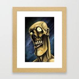 Portrait of a Zombie Framed Art Print