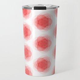3D Roses Pattern. Travel Mug