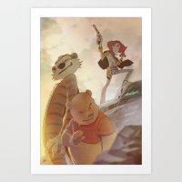 Cowboys, Tigers and Bears Art Print