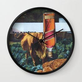 Kuh, Koller, Collage 2 Wall Clock