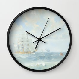 Wild Is The Wind - Cutty Sark - Maritime Painting Wall Clock