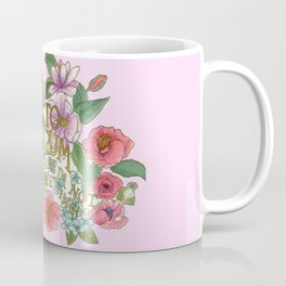Spring Flowers and butterfly with Quote in latin Coffee Mug