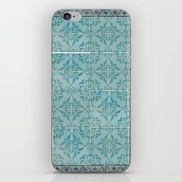 Victorian Turquoise Ceramic Tiles iPhone Skin