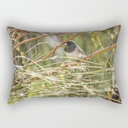 Dark-eyed Junco Sitting Pretty Rectangular Pillow