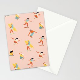 Skateboarding in California of 70s Stationery Cards