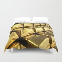 solid Duvet Covers featuring Solid Gold  by Spotted Heart