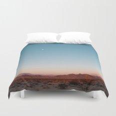 Desert Sky with Harvest Moon Duvet Cover