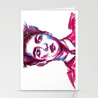 shinee Stationery Cards featuring SHINee Minho Everybody by sophillustration