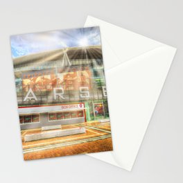 Arsenal Football Club Emirates Stadium London Sun Rays Stationery Cards