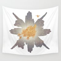 compass Wall Tapestries featuring Compass by Rhea Ewing