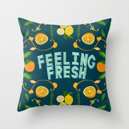 Feeling Fresh Throw Pillow