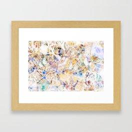 Mosaic of Barcelona XI Framed Art Print