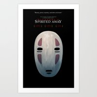 spirited away Art Prints featuring Spirited by KoryDemers