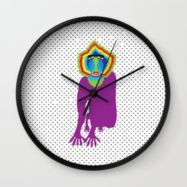 Animal Mardi Gras: Monkey Wall Clock