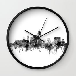 Indianapolis Indiana Skyline Wall Clock