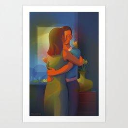 Flowers Of An Eternal Love Art Print