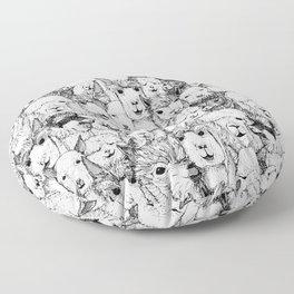 just alpacas black white Floor Pillow
