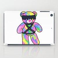 bondage iPad Cases featuring Rainbow Bondage Bear by clevernessofyou