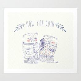 hyd cat Art Print