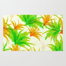 Spring tropical leaves pattern Rug