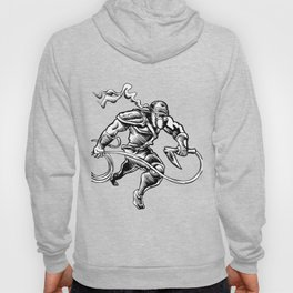 hand drawn Sketchy illustration of a ninja Hoody