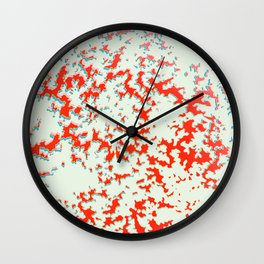 camouflage texture in red Wall Clock