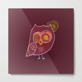 Hypnotic owl in the moonlight Metal Print