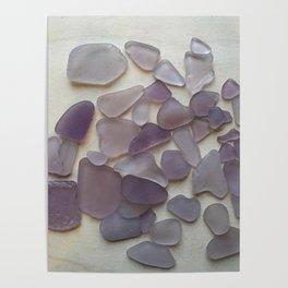 Genuine Purple Sea Glass Collection Poster