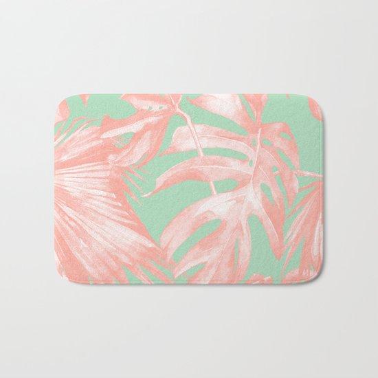 Island Love Seashell Pink + Mint Green Bath Mat