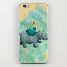 Lovely Hippo iPhone & iPod Skin